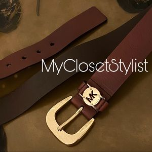 Michael Kors Gold AUTHENTIC Leather Belt New 32-36